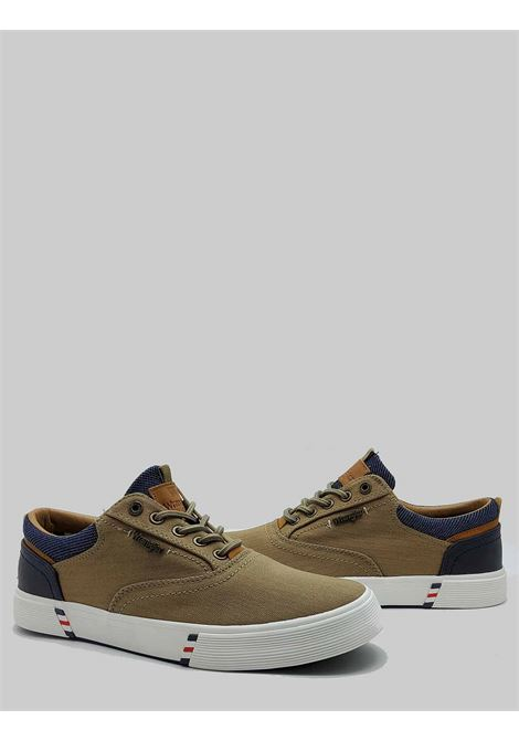 Men's Shoes Monument Board Sneakers in Taupe Fabric and Rubber Bottom Wrangler | Sneakers | WM11114A025
