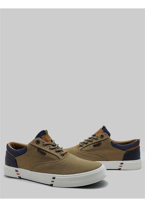 Calzature Uomo Sneakers Monument Board in Tessuto Taupe e Fondo in Gomma Wrangler | Sneaker | WM11114A025