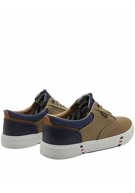 Calzature Uomo Sneakers Monument Board in Tessuto Taupe e Fondo in Gomma Wrangler | Sneakers | WM11114A025