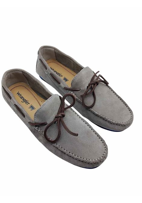 Men's Shoes Daytona Loafers in Taupe Suede with Leather Laces and Rubber Sole with Studs Wrangler | Mocassins | WM11191A023