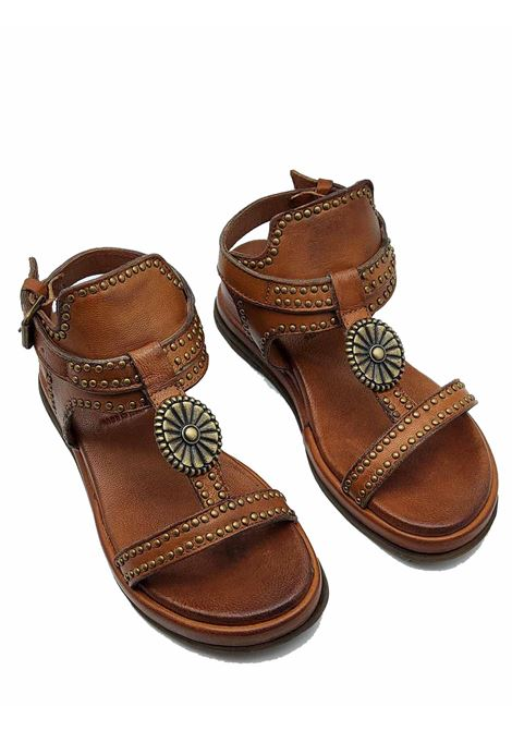 Women's Shoes Leather Sandals with Studs and Ankle Strap Ultra Light Wedge Zoe   Wedge Sandals   CHEYENNE02014