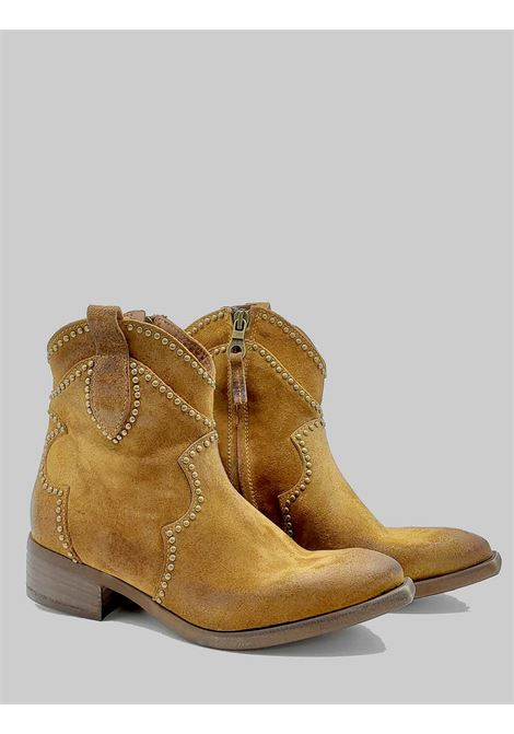 Women's Shoes Texan Ankle Boots In Leather Suede With Studs Zoe | Ankle Boots | INVIT02014