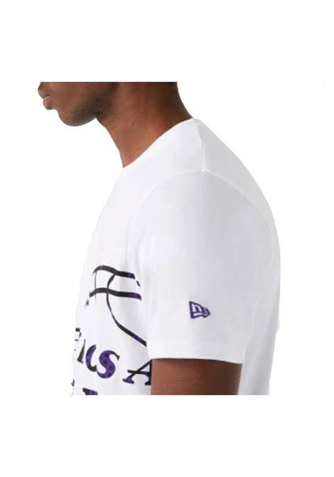 NBA OIL SLICK AOP TEE L.A.LAKERS NEW ERA | T-shirt | 12720125-