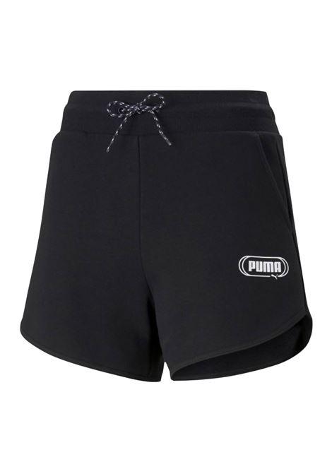 rebel high waist shorts PUMA | Shorts | 585817-01