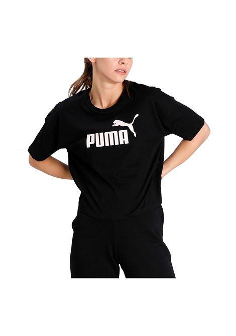 ess cropped logo tee PUMA | T-shirt | 586866-01