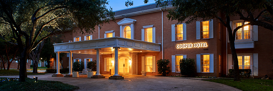 Cooper hotel and conference center entrance new hero
