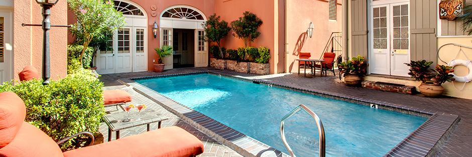 Dauphine orleans hotel outdoor pool hero