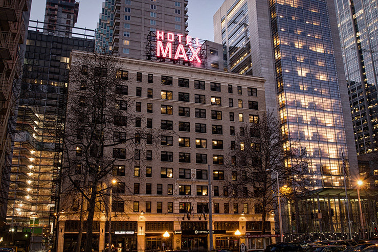 Hotel max exterior building hpg