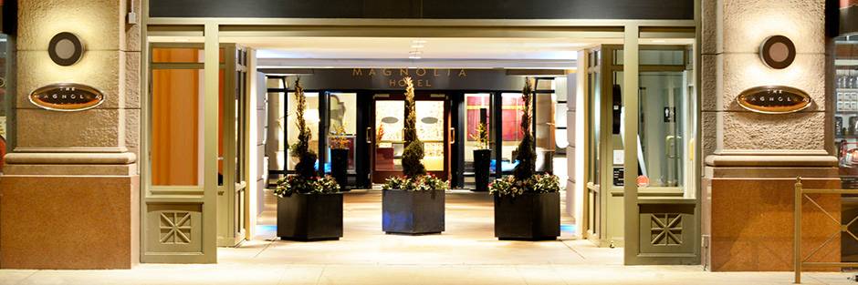 Magnolia hotel denver front entrance hero