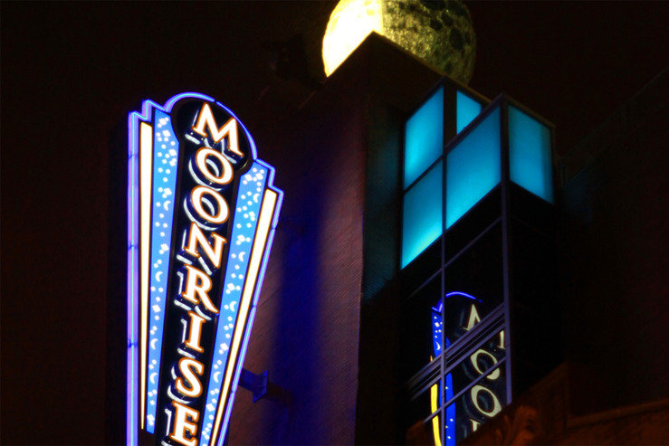 Moonrise hotel exterior sign night hpg