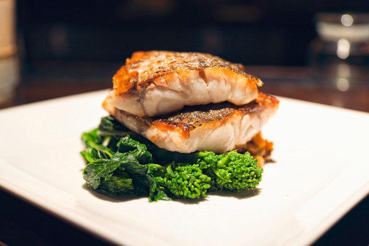 O hotel bar kitchen fish hpg