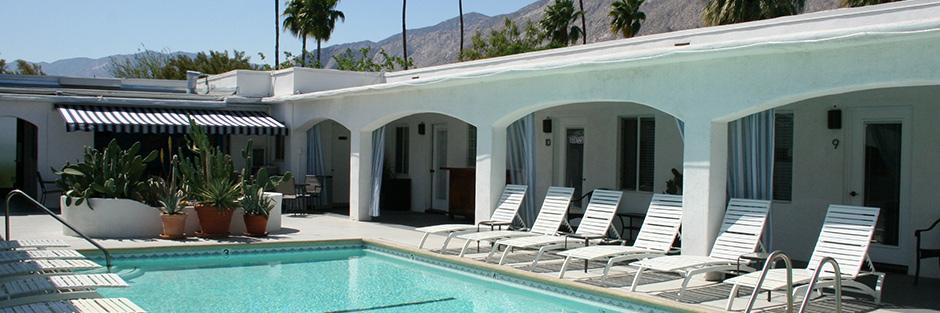 Posh palm springs inn pool area hero