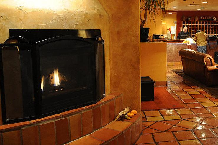 Table mountain inn fireplace lobby hpg
