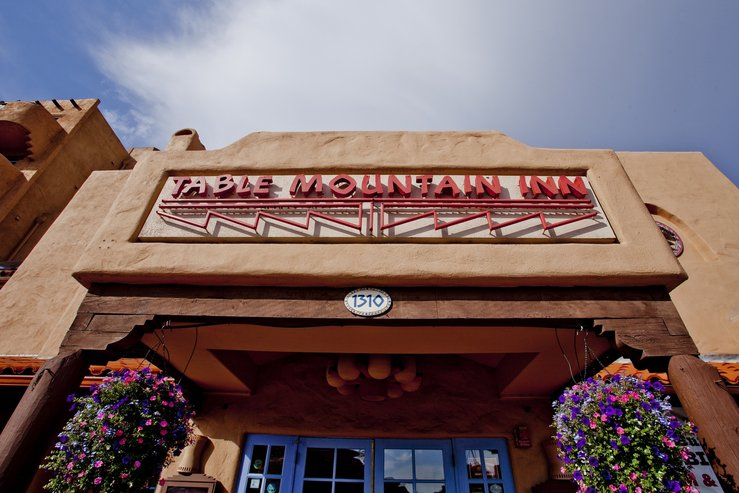 Table mountain inn low angle sign hpg