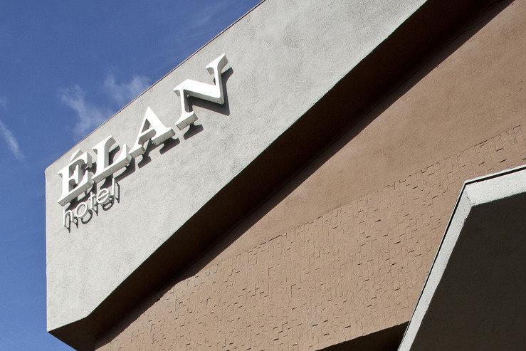 The elan hotel exterior sign hpg