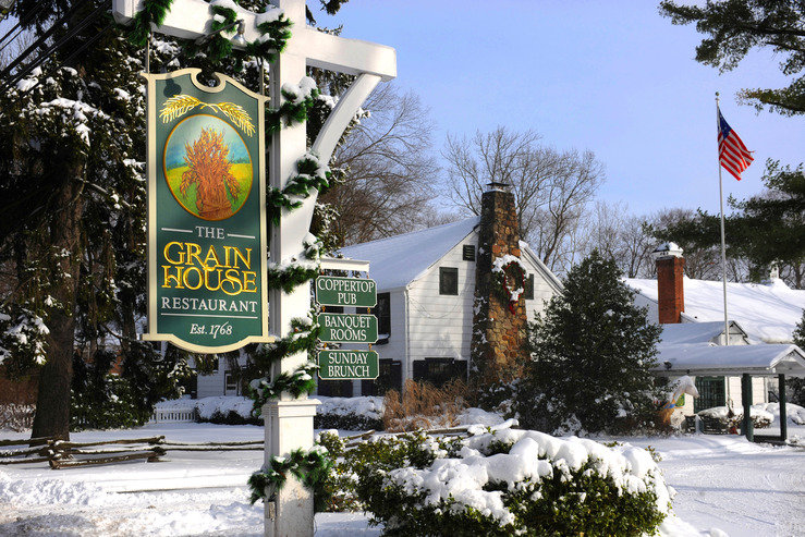 The olde mill inn sign winter hpg
