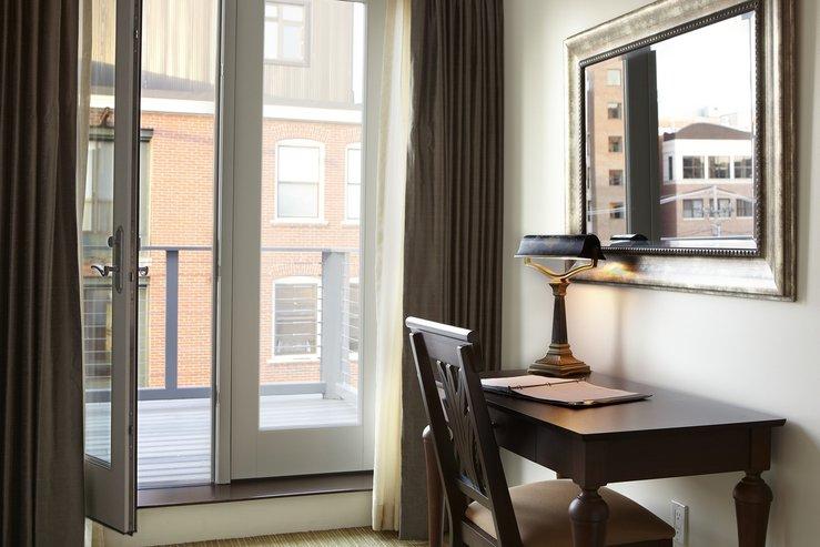 The portland regency hotel and spa govenor suite desk deck hpg
