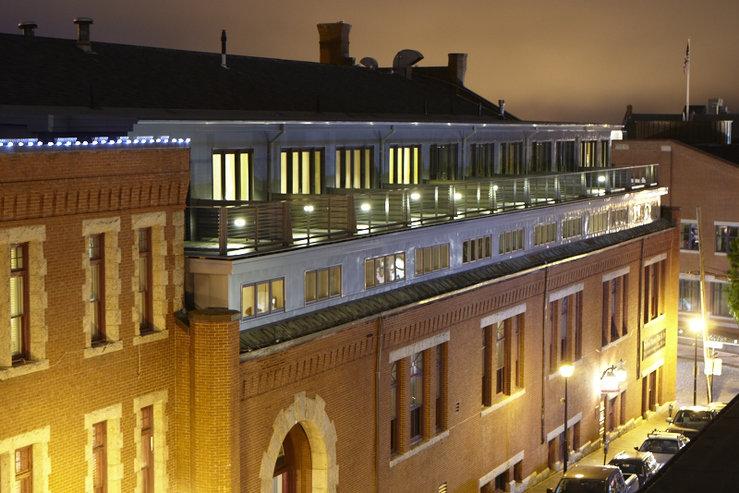 The portland regency hotel and spa side view decks hpg