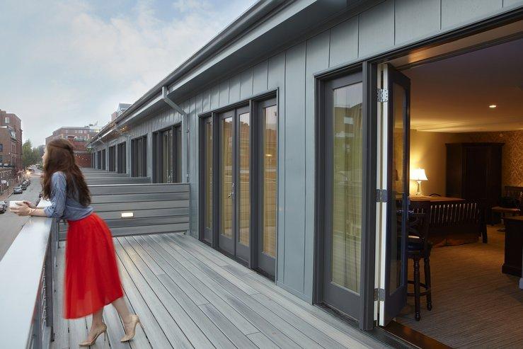 The portland regency hotel and spa studio suite deck hpg