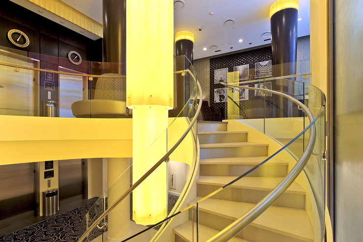 The strand hotel lobby staircase hpg