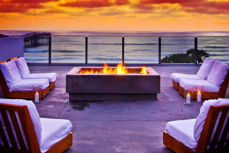 Tower 23 deck fire pit sunset hpg