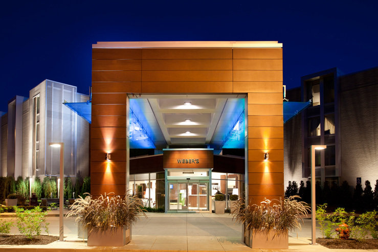 Webers boutique hotel front exterior night hpg