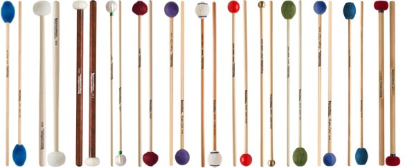 Various pairs of Innovative Percussion mallets.
