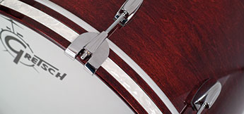 Gretsch USA Custom bass drum hoop.