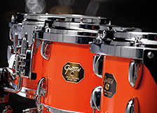 Gretsch USA Custom drum hardware in chrome.