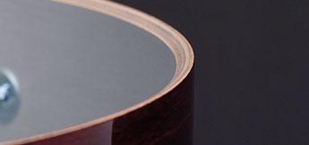 Gretsch USA Custom drum shell cross section.