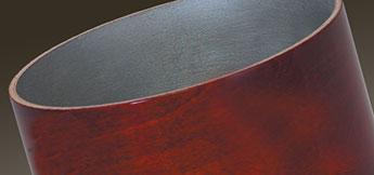 Gretsch USA Custom drum shell with silver sealer interior.
