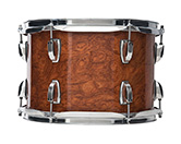 USA Classic Maple Exotic shell in waterfall bubinga finish.