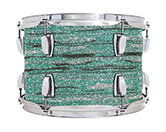 Legacy Classic shell in mint oyster glass glitter finish.