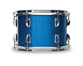 Shell in blue sparkle WrapTite finish.
