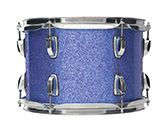 Shell in indigo sparkle WrapTite finish.