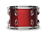 Shell in red sparkle WrapTite finish.