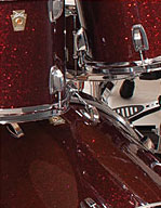 Undrilled, virgin bass drum.