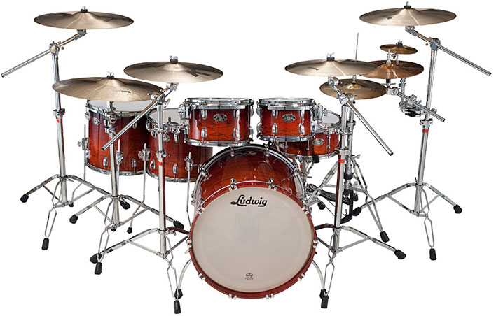 Ludwig Legacy Exotic drum set.