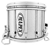 Silver Diamond Dazzle Mapex custom marching finish.