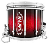 Supernova Red Sparkle Burst Mapex custom marching finish.