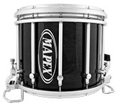 Transparent Midnight Black Mapex custom marching finish.