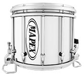 White Gloss Mapex custom marching finish.