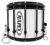Black Mapex custom marching hardware finish.