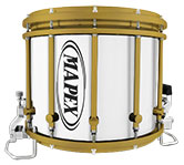 Gold Mapex custom marching hardware finish.