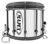 Graphite Mapex custom marching hardware finish.