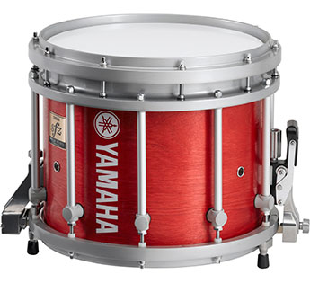 13 inch red forest Yamaha SFZ marching snare drum.