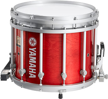 14 inch red forest Yamaha SFZ marching snare drum.