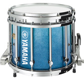 Blue Sparkle Fade Inverted custom marching finish.