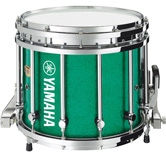 Green Sparkle custom marching finish.