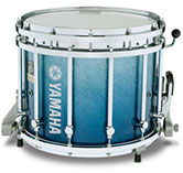 Blue Sparkle Fade Yamaha custom marching finish.